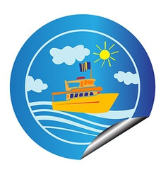 Leisure cruise sticker vector