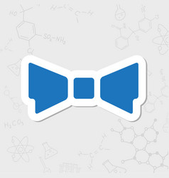 Bow-tie icon vector