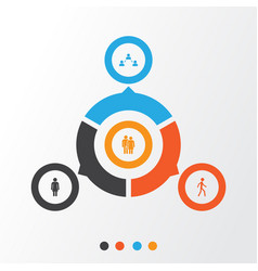 Person icons set collection of network jogging vector