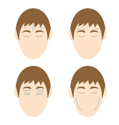 Man easy massage anti face wrinkle 1 vector