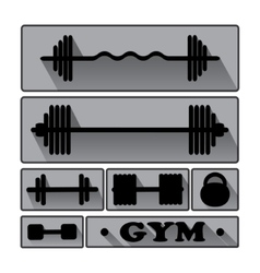 Gym fitness icons vector