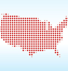 Usa dotted map vector