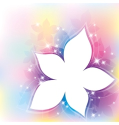 abstract with flower vector image