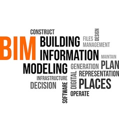 Word cloud bim vector