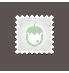 Nut stamp outline vector