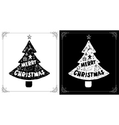 Christmas cards set with doodles drawings vector