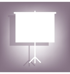 Blank projection screen icon vector