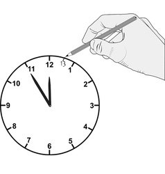 Added hour on dial clock vector