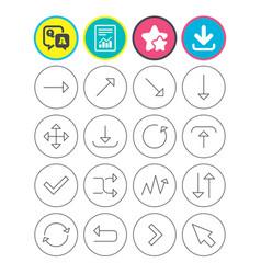 arrow download refresh and fullscreen symbols vector image vector image