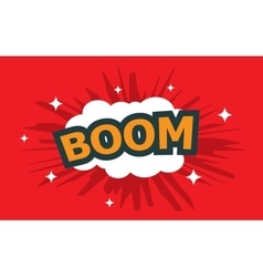 Boom wording sound effect set vector