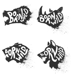 Born wild wild animals vector