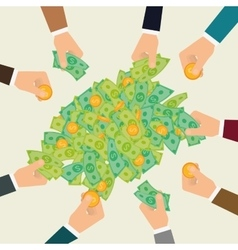 Business investors vector image