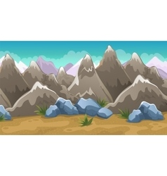 Cartoon brown mountains background vector