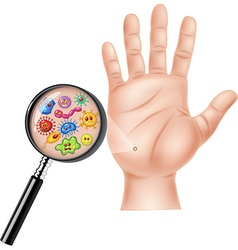Cartoon of dirty hand vector
