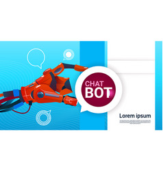 chat bot free robot virtual assistance of website vector image vector image