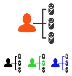 Children links flat icon vector