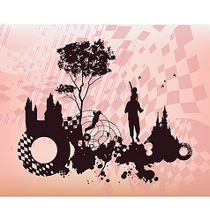Children Past Present Concept Background vector image
