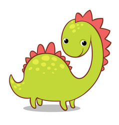 cute smiling dinosaur on a white background vector image vector image