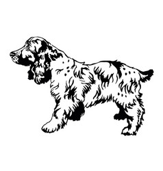 decorative standing portrait of dog russian vector image vector image