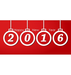 Design New Year banner vector image vector image