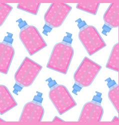 Dispenser bottle seamless pattern vector