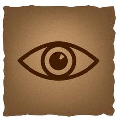 Eye sign Vintage effect vector image