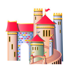 Fairytale castle isolated vector