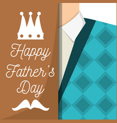 Fathers day car with man used vest and shirt vector