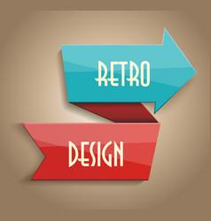 Glossy arrow abstract retro design vector