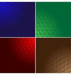 Hexagon color background vector image