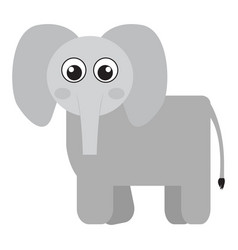 Isolated cute elephant vector