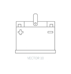 Line flat icon car repair part - battery vector