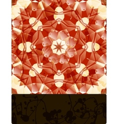 Mandala with blank banner vector image vector image