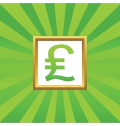 Pound sterling picture icon vector