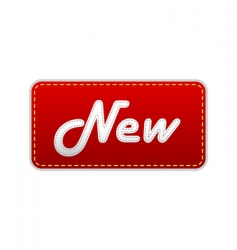 red label with new text vector image vector image
