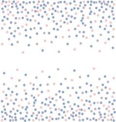 Rose quartz and serenity Confetti backdrop vector image vector image