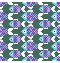 Seamless Fish Pattern Animal vector image