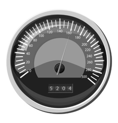 Speedometer at 160 km in hour icon vector image
