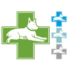 veterinary symbol with dog vector image vector image