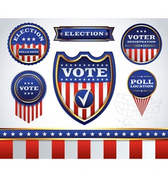 Vote Badges vector image