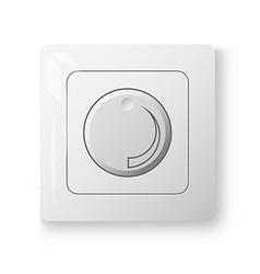 White dimmer power switch vector image vector image