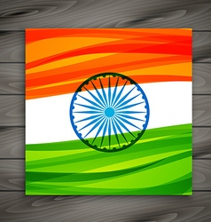 Indian flag card vector