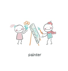Artist painter vector