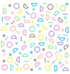 circle half-circle line pattern colorful pastel vector image