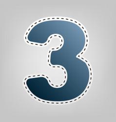 number 3 sign design template element vector image