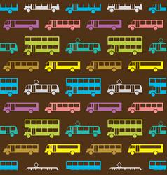 Retro bus seamless pattern vector