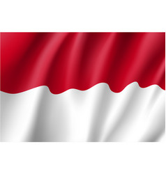 National flag of indonesian republic vector