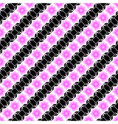 Design seamless pink and black diagonal pattern vector image