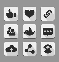 web design buttons white set vector image