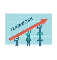Teamwork of business people vector